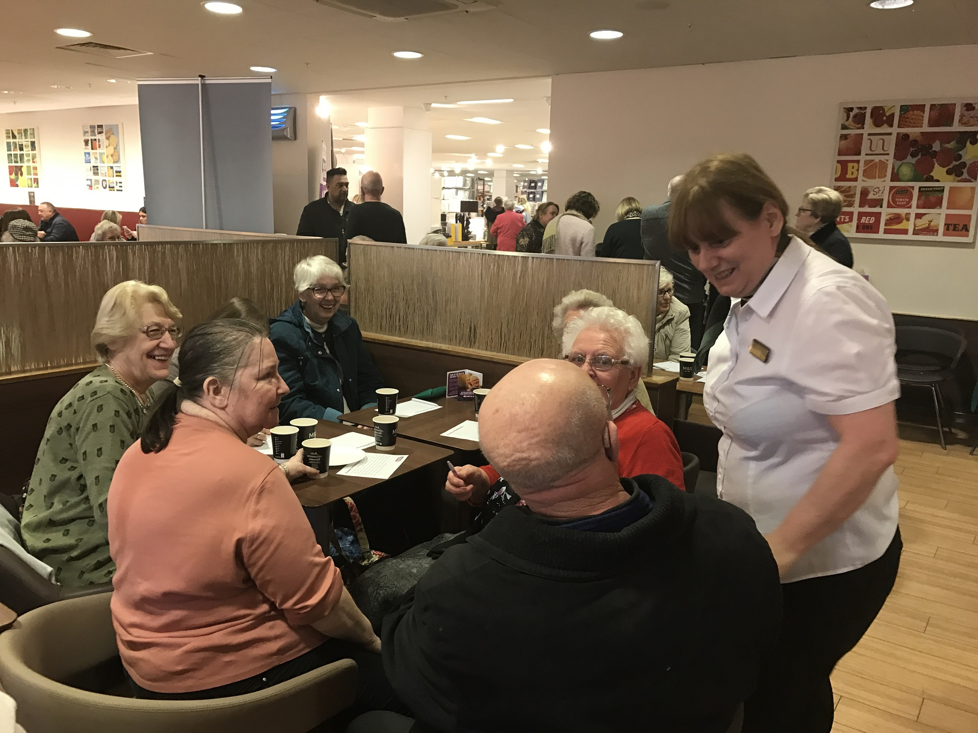 A previous Ageing Better Middlesbrough event at the town centre Marks and Spencer proved popular.
