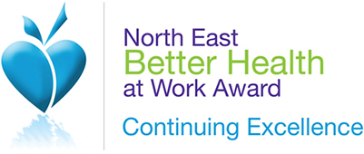 Logo for North East Better Health at Work Award - Continuing Excellence