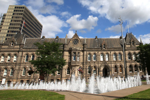 A photo of Middlesbrough Town Hall linking to the page about changes to council services