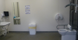 Image of the Changing Place Toilet at Stewart Park