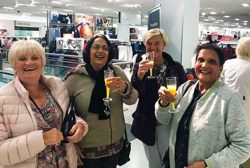 Ageing Better members enjoying M&S exclusive evening in 2017.