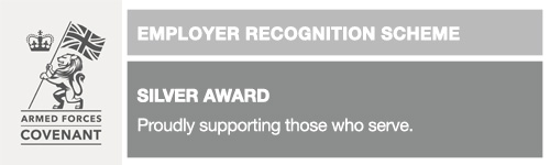 Armed Forces Employer Recognition Scheme Silver award