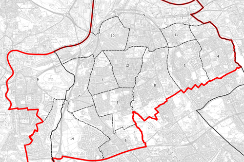 Map of Middlesbrough proposed boundary