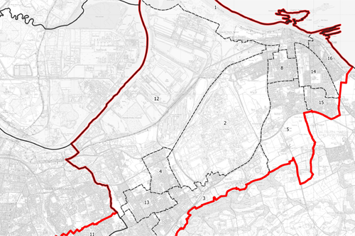 Map of Redcar & Eston proposed boundary