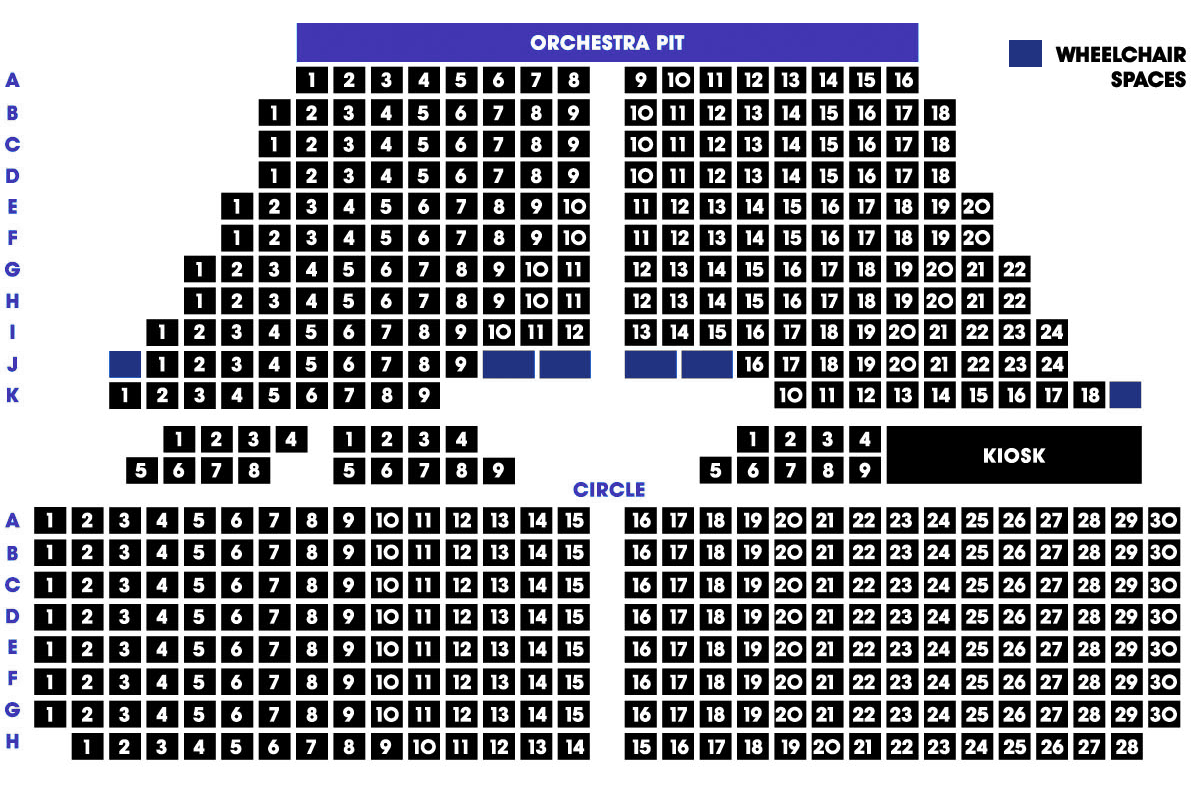 Image of the Middlesbrough Theatre seating plan
