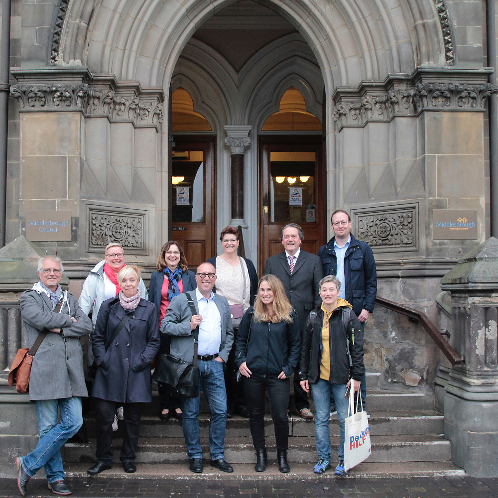 A photo of members of the Middlesbrough-Oberhausen Town Twinning group
