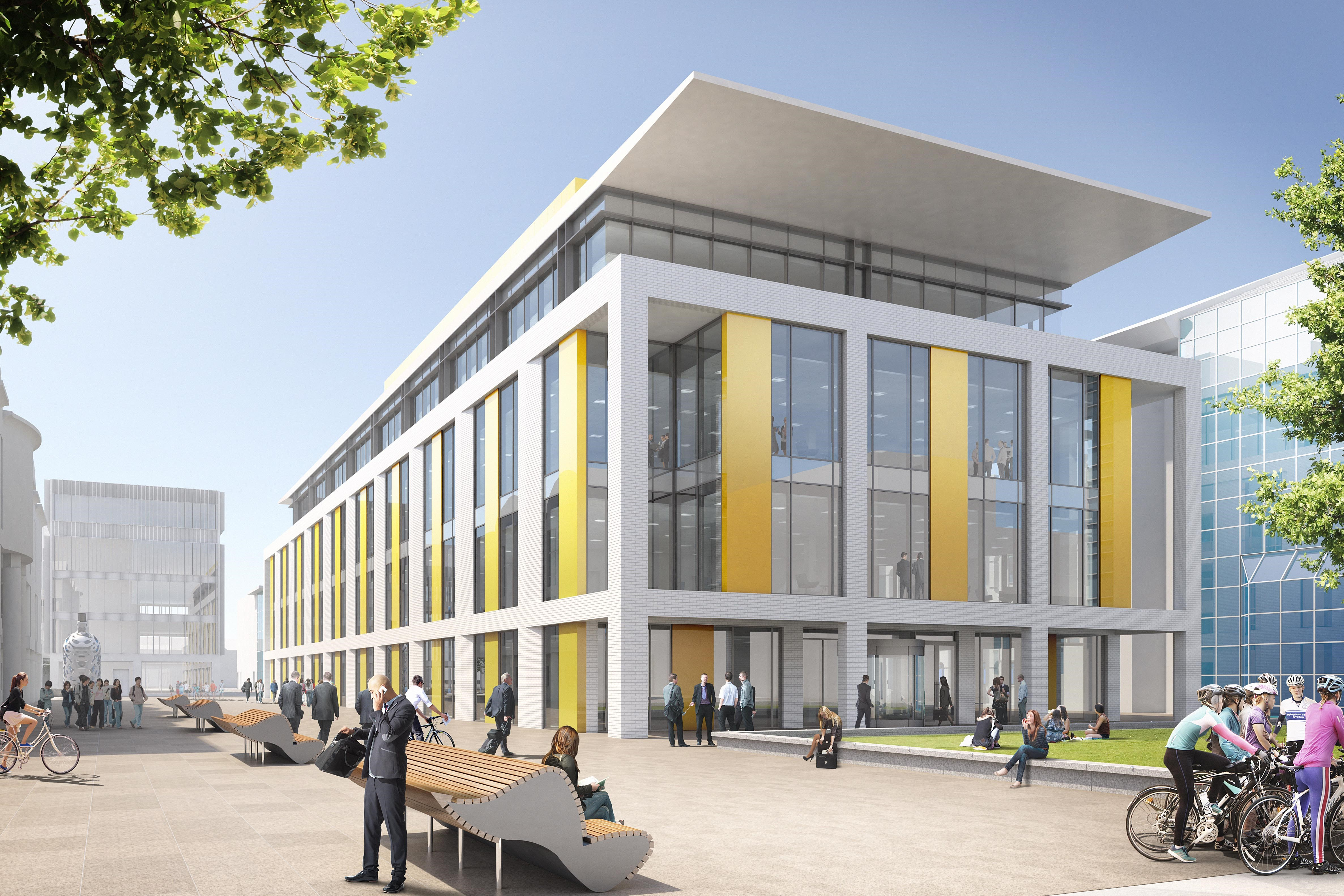 Artist's impression of Middlesbrough Council's new Centre Square headquarters