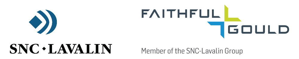 Logo for sponsor Faithful and Gould linking to their website