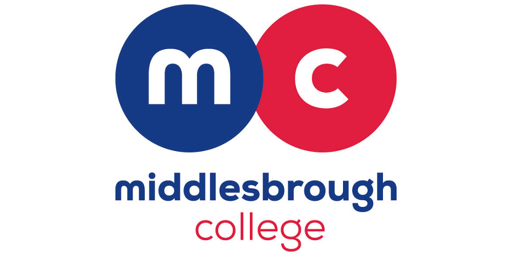 Logo for sponsor Middlesbrough College linking to their website