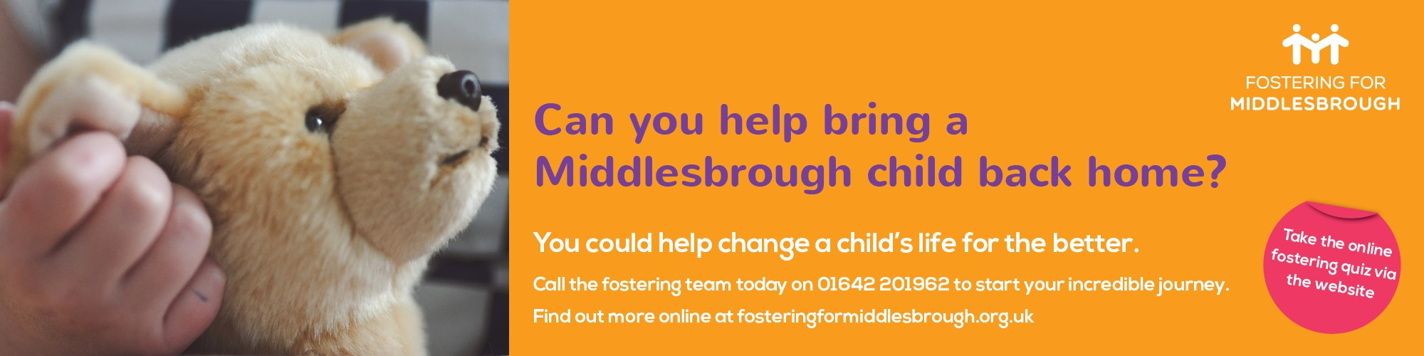 Fostering for Middlesbrough banner