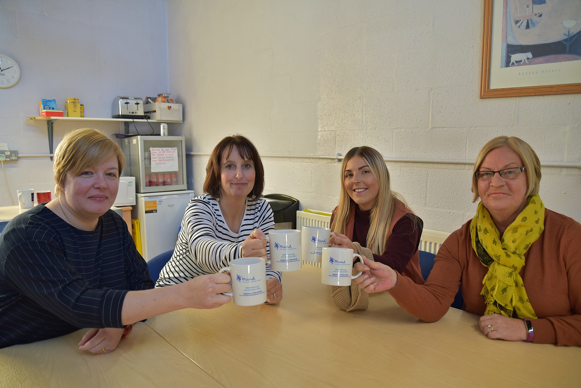 Teesside Crematorium has raised £5,000 for Middlesbrough and Stockton MIND. Pictured from L-R is Heather Watson, Sarah Ross and Bethany Dean, all from MIND, and Cllr Tracy Harvey, Middlesbrough Council's Executive Member for Environment and Commercial Ser