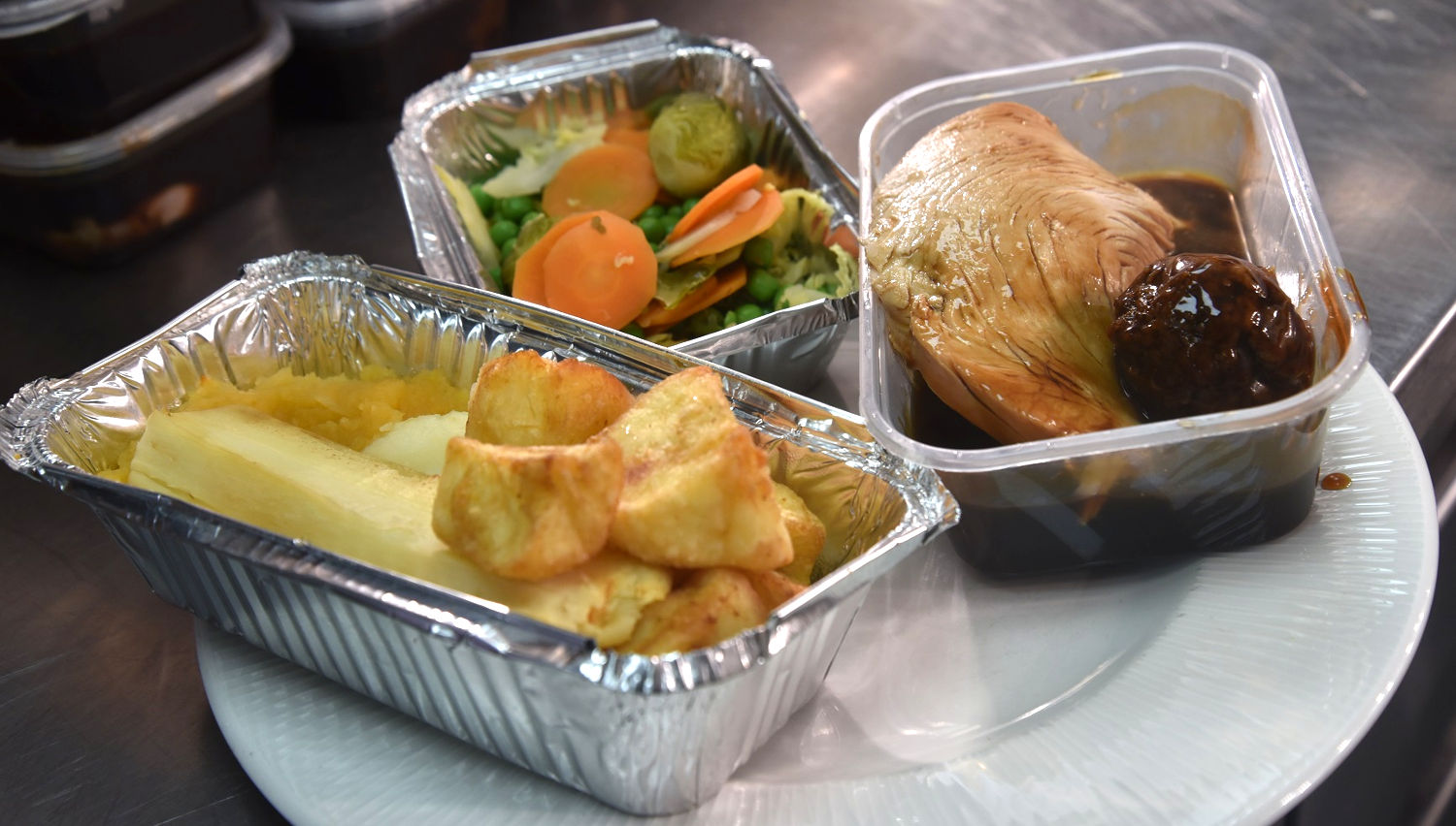 Photo of the special Christmas dinner from the Oven
