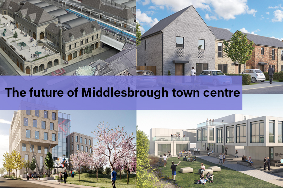 Artist's impressions showing high quality housing, business and education premises in Middlesbrough
