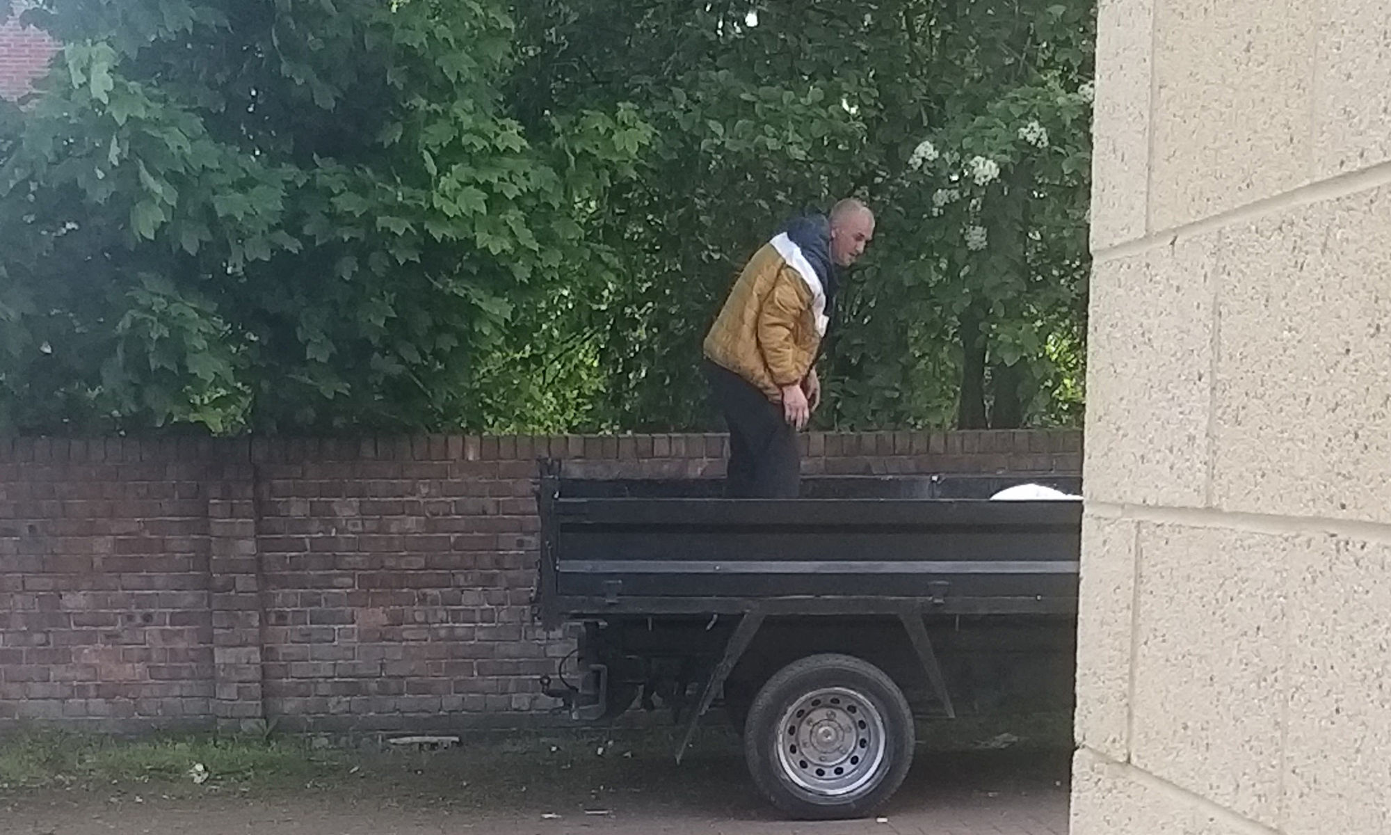 A photo of a suspected fly-tipper on Marton Road