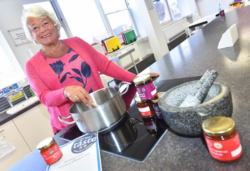 A photo of Rosalind Waugh in the Live Well Centre kitchen