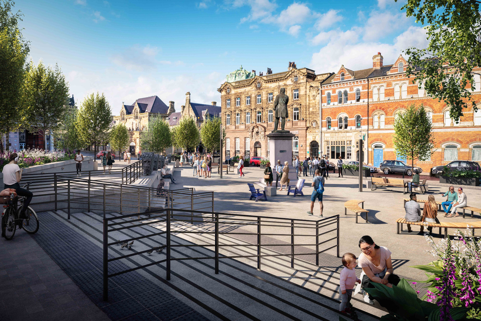 Artist's impression of how Exchange Square will look