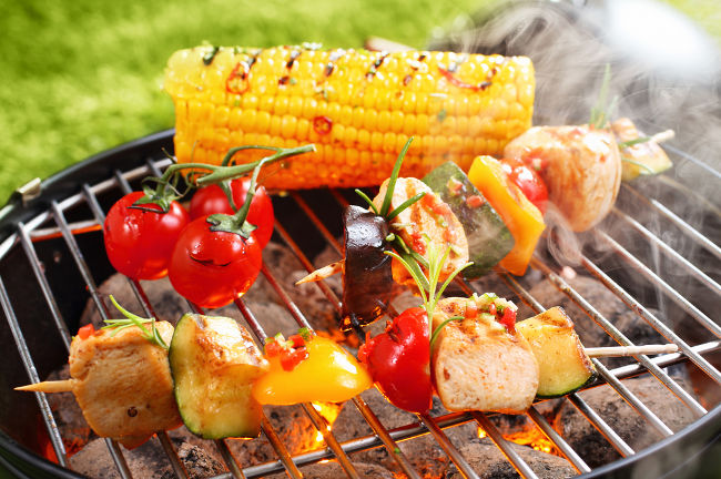 A photo of a BBQ linking to a page about recycling items from BBQs