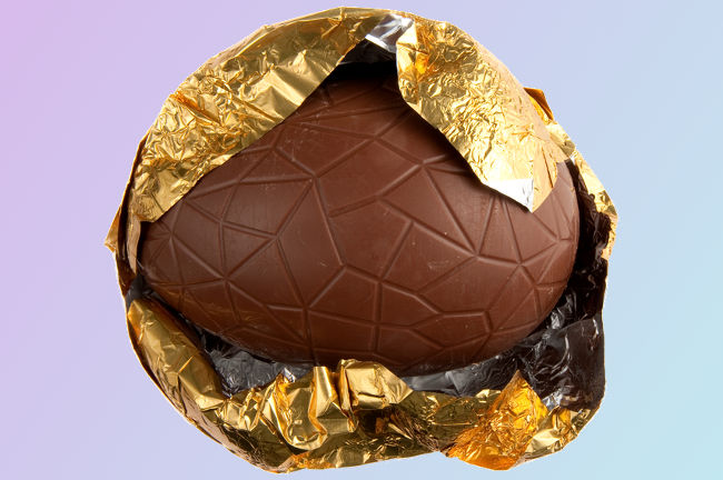 A photo of an Easter egg linking to a page about recycling Easter waste