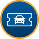 Car parking season ticket icon